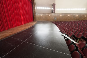 Stage extensions, like the one pictured here, need to be constructed by a reputable manufacturer or structural engineer.