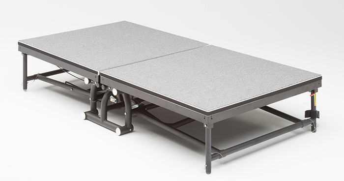 folding rolling stage riser