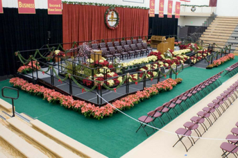portable graduation stage
