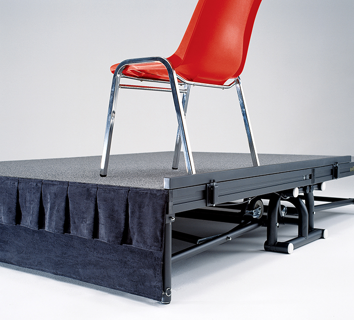 Chair and Table Stops for Stages and Risers