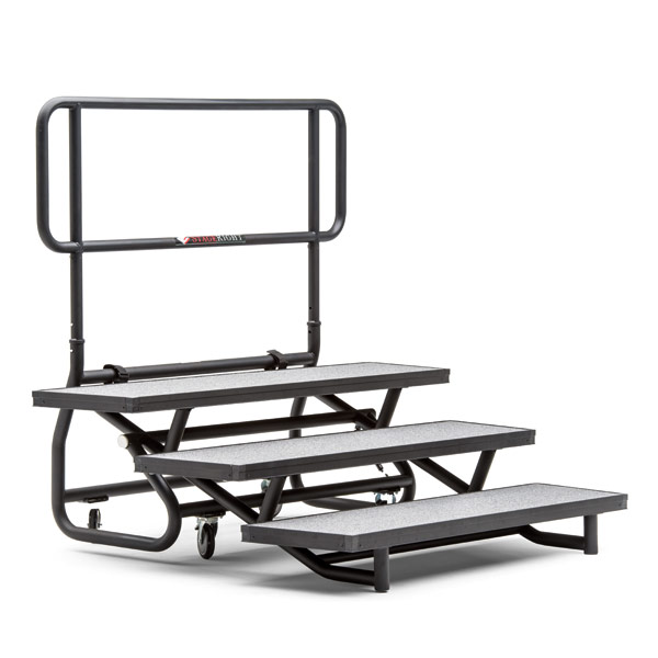 folding rolling choir riser