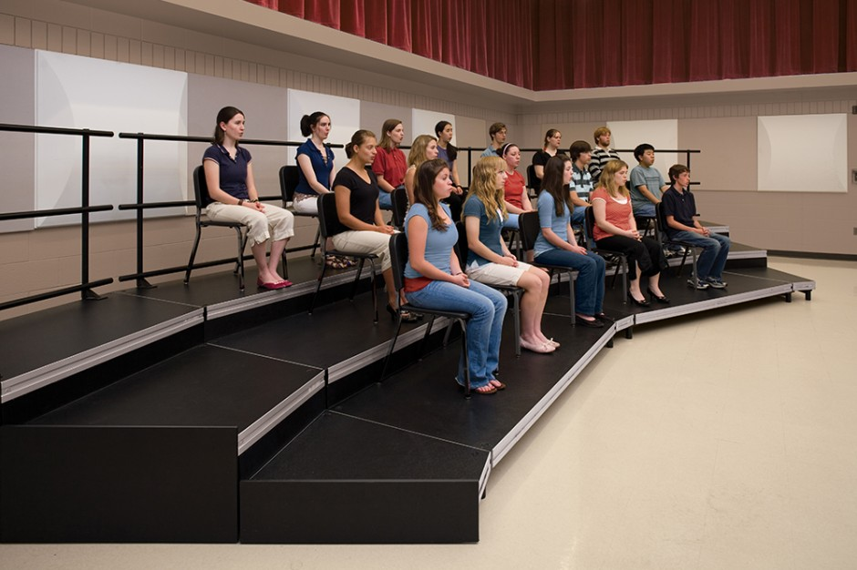 Mr 3 Seated Choral Riser Seated Riser Stageright