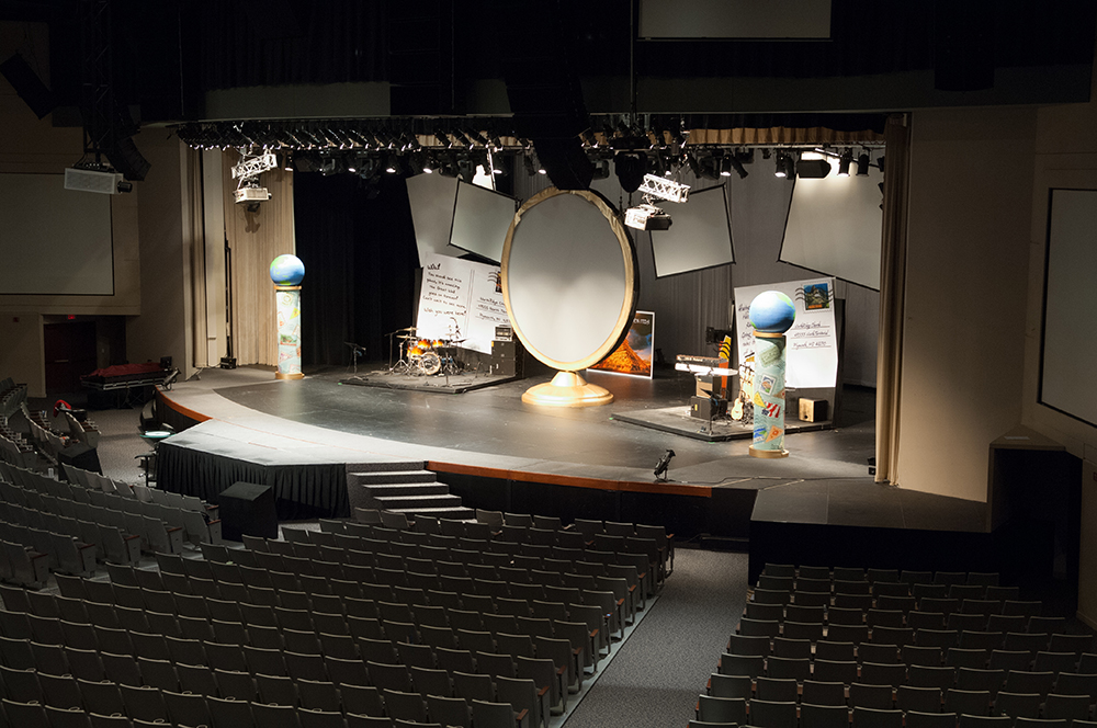portable stages and risers for churches