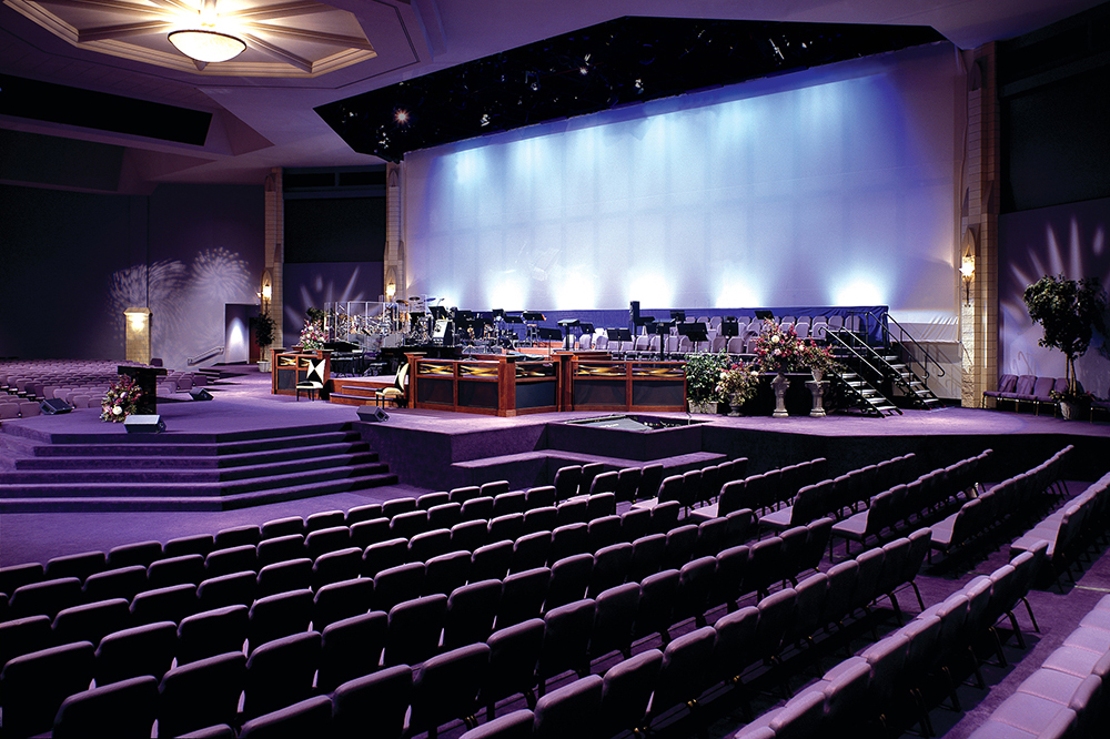 Portable stage for church
