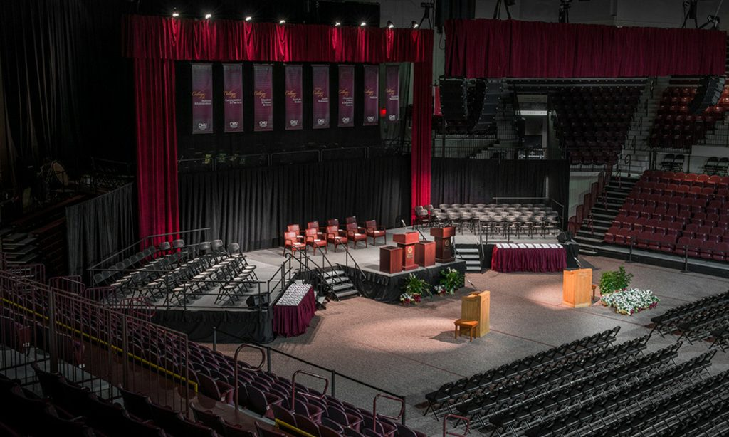 Graduation stage that was built for Central Michigan University