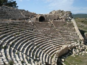 rome theatre seating risers