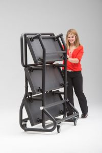 rolling folding choir riser