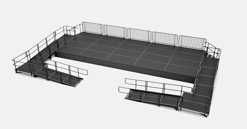 portable stage with ramps